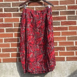 Vintage Alfred Dunner Red Paisley Skirt- Plus Size